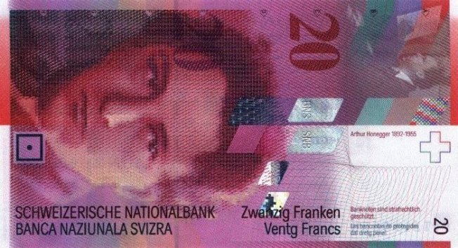 швейцарский франк купюра