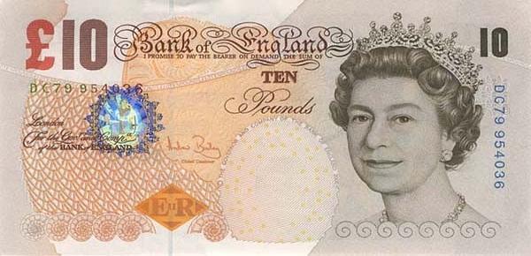 британский фунт купюра