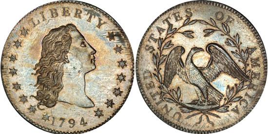 Flowing Hair Silver 1794