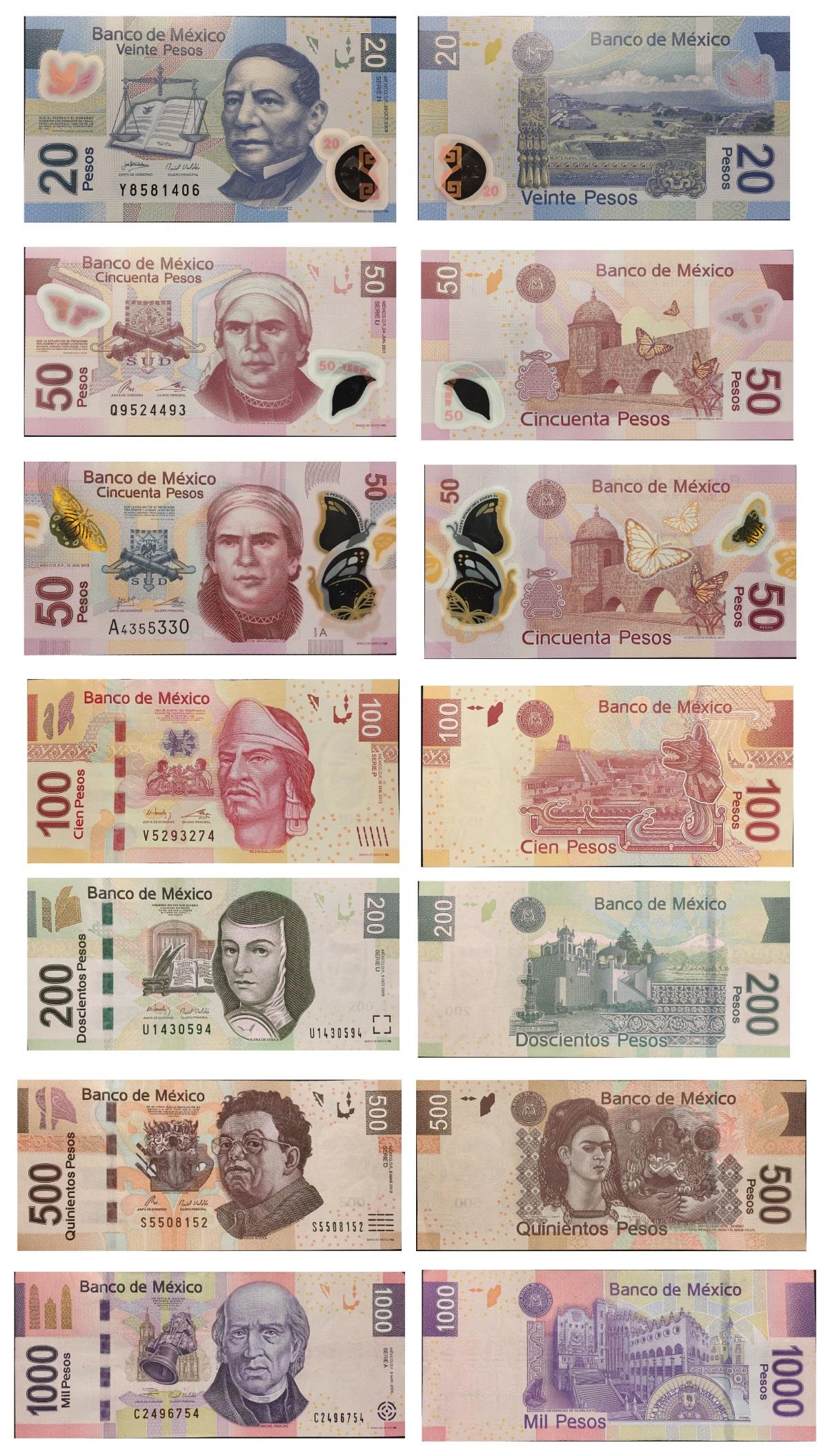 Банкноты Мексиканский песо ФОТО