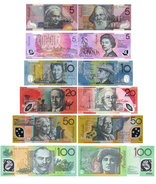 Банкноты Австралийский доллар ФОТО
