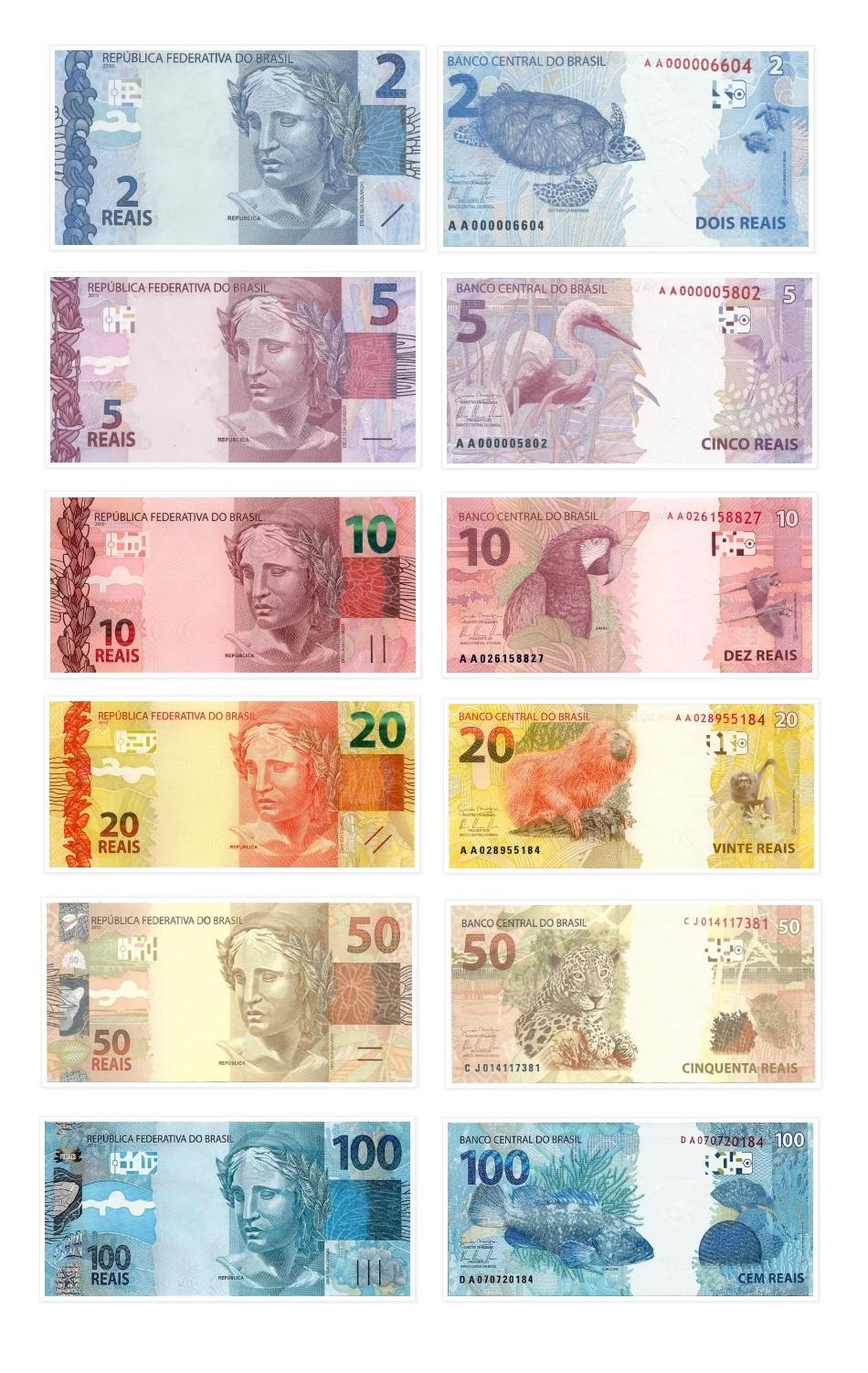 Банкноты Бразильского реала ФОТО